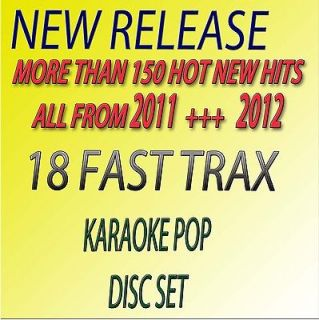 NEW POP KARAOKE CD+G,ADELE, LADY GAGA,RIHANNA,KESHA 18 FAST TRAX FREE