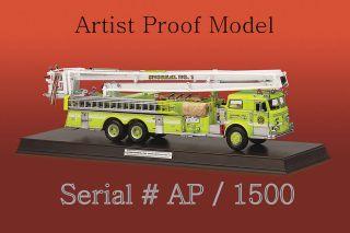 Franklin Mint Pierce Snorkle Fire Truck Diecast 132 B12E417 SN AP of