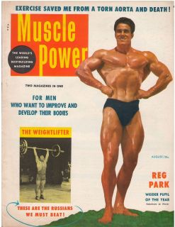 Muscle Power Bodybuilding fitness magazine REG PARK Mr Universe 8 54