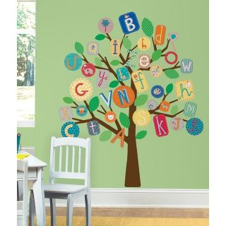 New Blue ABC ALPHABET TREE WALL DECALS MURAL Baby Boy Nursery Stickers