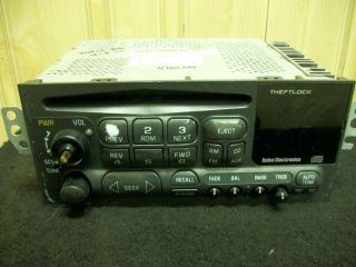 Stereo Radio AM FM CD Player Chevy Olds GMC 1996 2002 TESTED