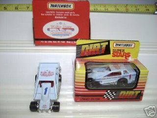 MATCHBOX 1992 RARE BLUE #1 DIRT MODIFIED RACE CAR MIMB*