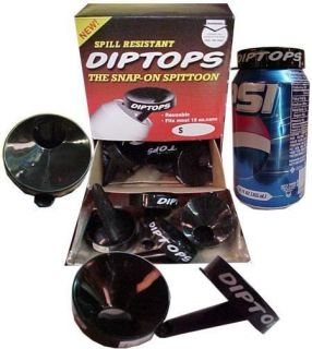 SET OF 3 NEW DIP/SNUFF/CHEW DIPTOPS~ REUSEABLE TOBACCO SPITTOON ~SNAPS