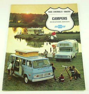 1968 68 Chevrolet CHEVY CAMPER BROCHURE Truck Van