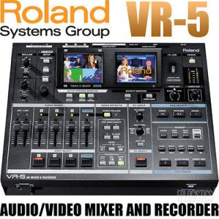 Roland Edirol VR 5 USB Audio Video Mixer and Recorder 5 Channel AV