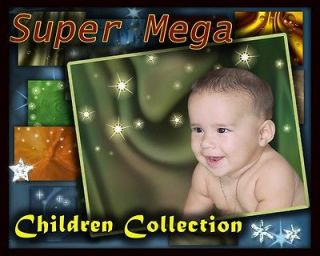 MC1 Children baby Digital Background Backdrops Template Frame photos