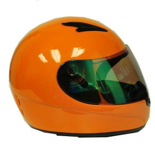 New Youth Kids Motorcycle MX ATV Dirt Bike Full Face Helmet Orange