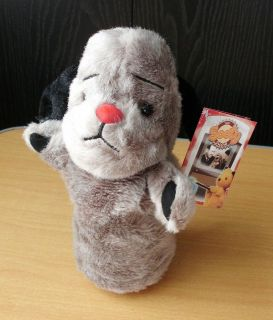FROM SOOTY AND SWEEP RARE PLUSH SWEEP HAND PUPPET WITH SQUEAK BNWT