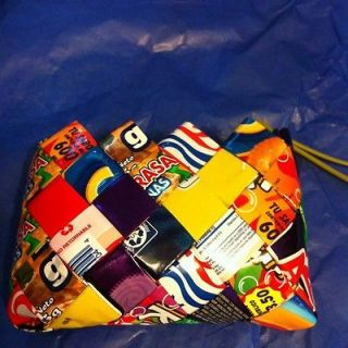 Folded Mexican Candy Wrapper Clutch Purse Bright Coin Trendy Rainbow