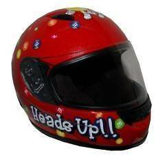 Graphic Red DOT Youth Street Motorcycle Full Face Helmet YS   YL