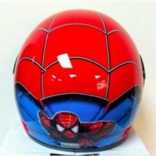 Red Spiderman Full Face Motorcycle Kids Helmet