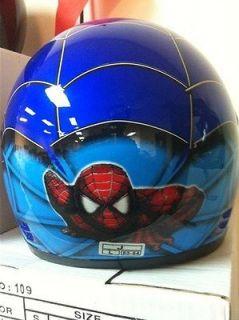 Blue Spiderman Full Face Motorcycle Kids Helmet S/M/L