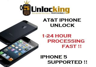IPHONE FACTORY UNLOCK UNLOCKING SERVICE AT&T US 5 4S 4 3GS 3G 2G