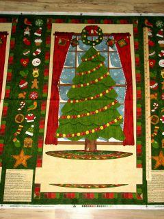 Christmas Ginger Tree Gingerbread Peppermint Advent Calendar Fabric