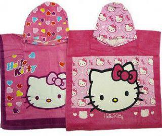 Hello Kitty Poncho Towel girls Childrens Kids Pink Bath Beach Cotton