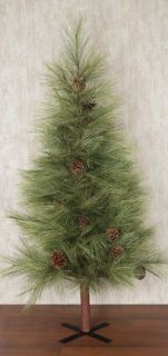 Country Primitive Artificial Christmas Tree Long Needle Pine 6 Ft Slim