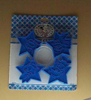 Cookie Cutter Set 4 NIP Vintage Walt Disney MICKEY MINNIE MOUSE DONALD