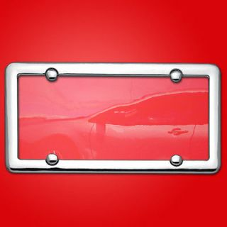 PLASTIC LICENSE PLATE SHIELD +FRAME bug cover tag protector chrome