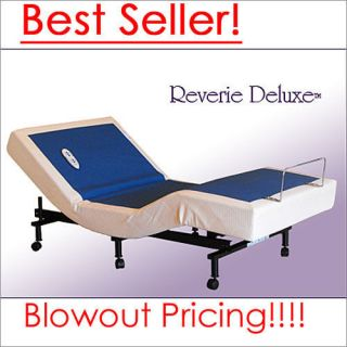 Reverie Deluxe Adjustable Bed Base With Wireless Remote and Massage