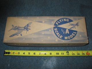 Vintage balsa wood model kit Consolidated Japanese Zero WWII fighter