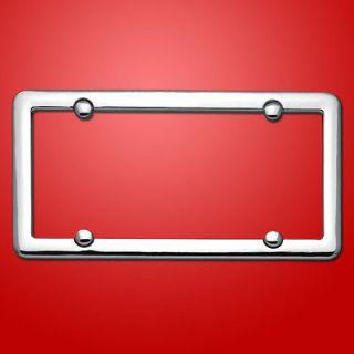 CHROME LICENSE PLATE FRAME car tag holder bracket cover blank plain