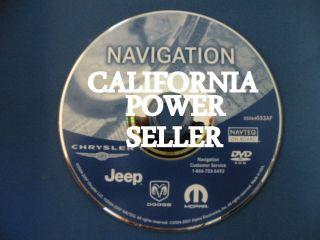 2004 2008 CHRYSLER DODGE JEEP DVD NAVIGATION GPS DISC 05064033AF 06 07