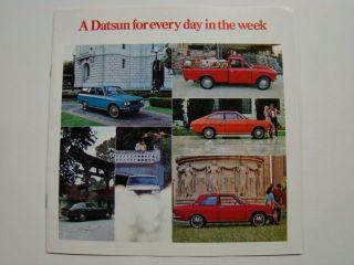 Datsun Japanese Car Brochure 1200, 510, Lil Hustler Pickup & 240 Z