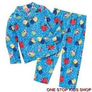 CHUGGINGTON TRAIN Toddler Boys 2T 3T 4T Flannel Pjs Set PAJAMAS Shirt