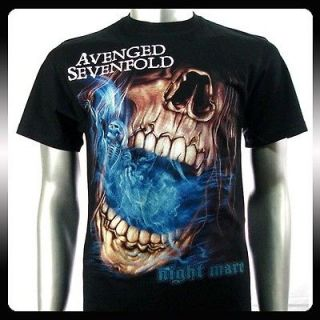 Avenged Sevenfold A7X Rock Punk Biker Men T shirt Sz L Rider AVE11