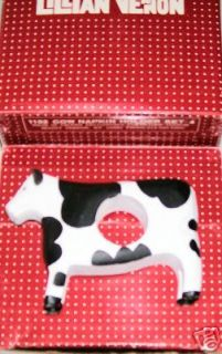 LILLIAN VERNON COW NAPKIN HOLDERS NEW IN THE BOX