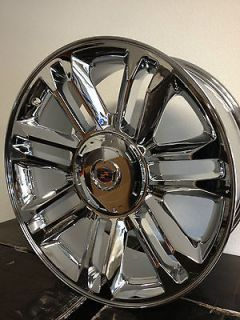 22 Inch Chrome Cadillac Escalade Platinum Factory OE Wheels Rims 6x5.5