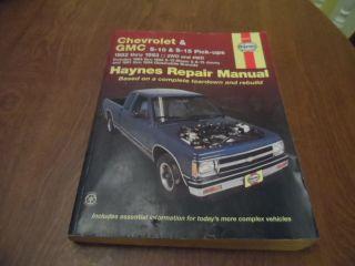 Chevrolet GMC S 10 S 15 Truck Blazer Jimmy Bravada Service Repair