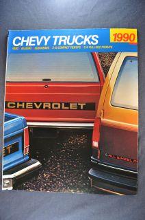 1990 Chevrolet Trucks Brochure Pickup 454 SS, Blazer Suburban S 10 Van