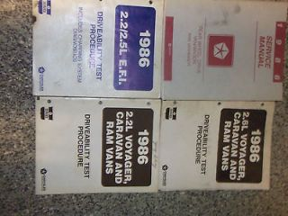 1986 Dodge RAM VAN WAGON RWD Service Shop Repair Manual SET OEM