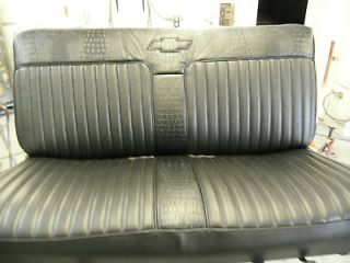 Reupholstered Chevy S10 bench Seat with Black trimmed gator