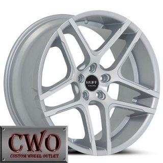 20 Silver Ruff R954 Wheels Rims 5x108 5 Lug Jaguar Lincoln LS Taurus
