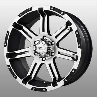 Rock Overdrive Black Wheels Rims 6x5.5 6x139.7 Colorado Express Van