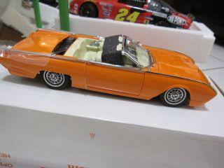 DANBURY MINT 1962 ORANGE THUDERBIRD CUSTOM DIECAST CAR MIB W/CERTI