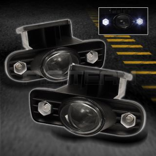 SMOKED 99 06 YUKON DENALI SIERRA HALO PROJECTOR FOG LIGHTS+SWITCH+