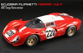 GMP G1804117 FERRARI 412P diecast model race car No.220 Targo Florio
