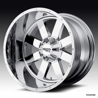 MOTO METAL 962 NEW FOR 2012 6 on 5.5bp/6 LUG GMC CHEVY WHEELS CHROME