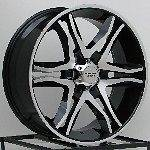 Black Wheels Rims Hummer H3 H3T Chevy Colorado GMC Canyon 6x5.5 6 Lug