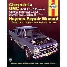 Chevrolet & GMC S10 S15 pickups Haynes Repair Manual 1982 1993
