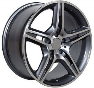 Set of 4 19 AMG Style Mercedes Alloy Wheels, Same Size or Staggered