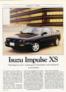 1990 Isuzu Impulse XS   Driving Impression   Classic Article H11