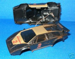 1991 92 TYCO 440 Lamborghini Slot Car Body Blk/Gld 6320