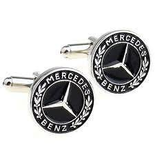 MERCEDES BENZ CAR CUFFLINKS COMPLETE WITH GIFT BOX