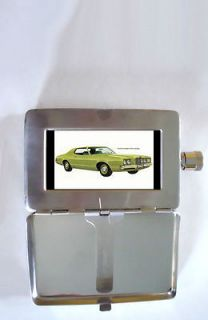 1972 MERCURY MONTEGO 2 DOOR HARDTOP RETRO AD 2oz Flask Cigarette Case