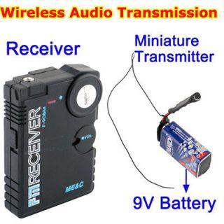 Micro Wireless Bug Covert RF FM Audio Transmitter Receiver Spy