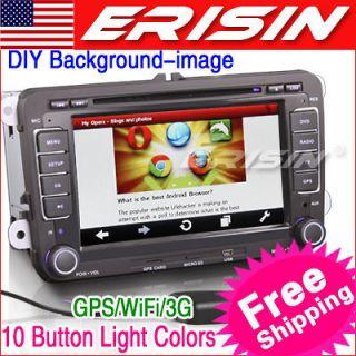 HD Car DVD Player GPS iPod TV WiFi 3G VW PASSAT JETTA SEAT SKODA